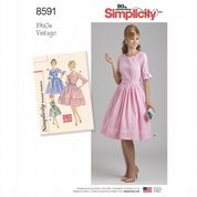 8591 Simplicity Pattern: Misses' 1960's Vintage Dress
